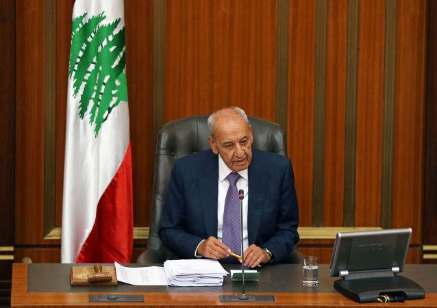 Nabih Berri, presidente del Parlamento libanés