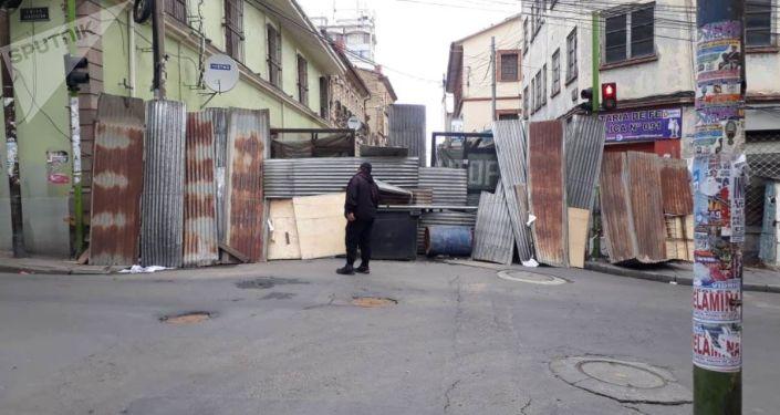 Barricadas en la Paz, Bolivia