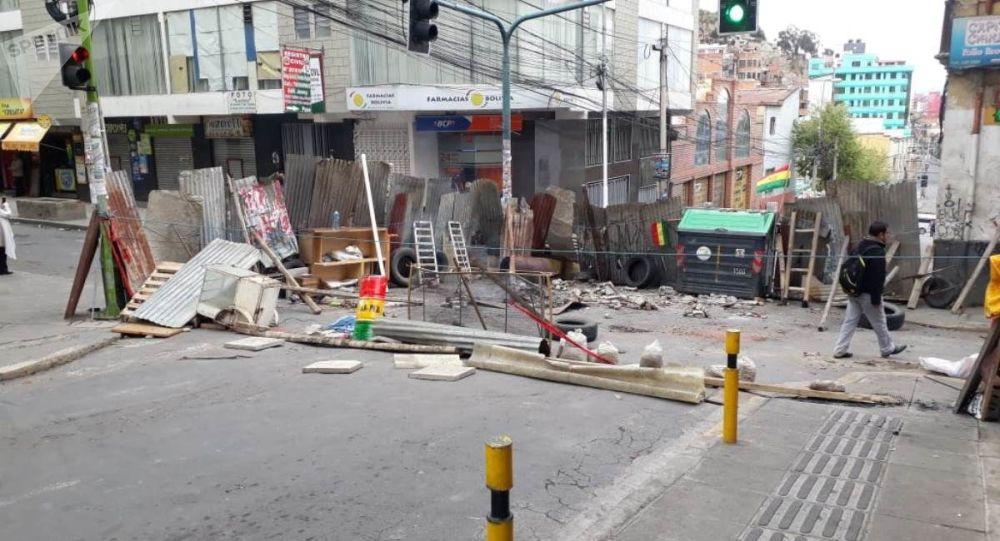 Las calles bloqueadas de La Paz, Bolivia