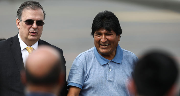 Llegada del presidente boliviano, Evo Morales, a México