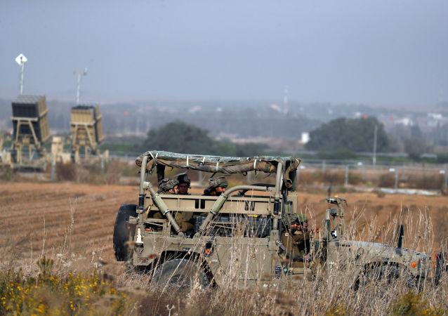 Los soldados israelíes en la Franja de Gaza