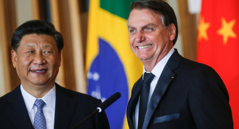 El presidente de Brasil, Jair Bolsonaro, y el de China, Xi Jingping