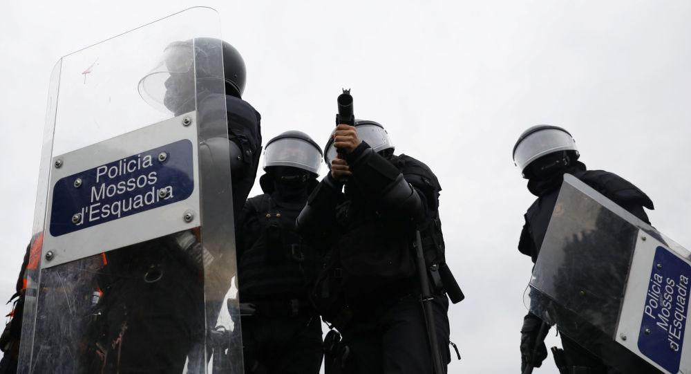 La policía en Cataluña