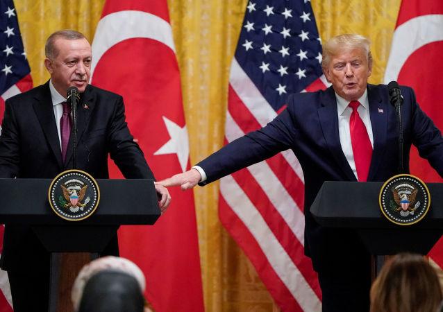 Recep Tayyip, presidente de Turquía, y Donald Trump, presidente de EEUU