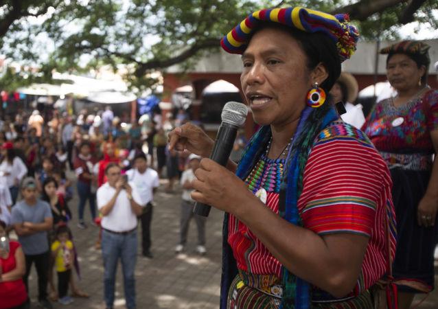 Thelma Cabrera, dirigente del pueblo maya mam