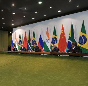 Líderes de los cinco países del grupo BRICS