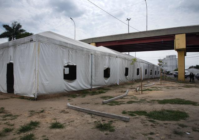 Refugiados venezolanos en Manaos, Brasil