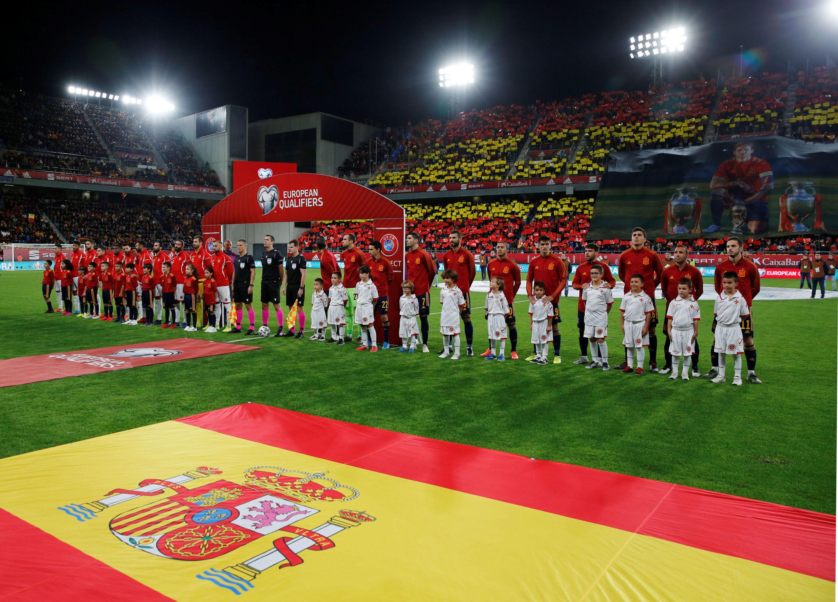 Partido entre las selecciones de fútbol de España y Malta