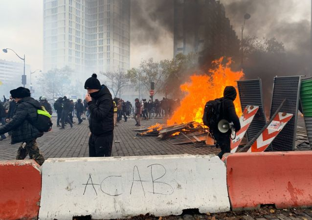 Protestas de los chalecos amarillos en París