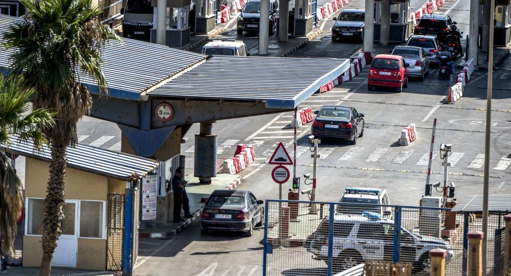 El paso fronterizo de la ciudad autónoma española de Ceuta