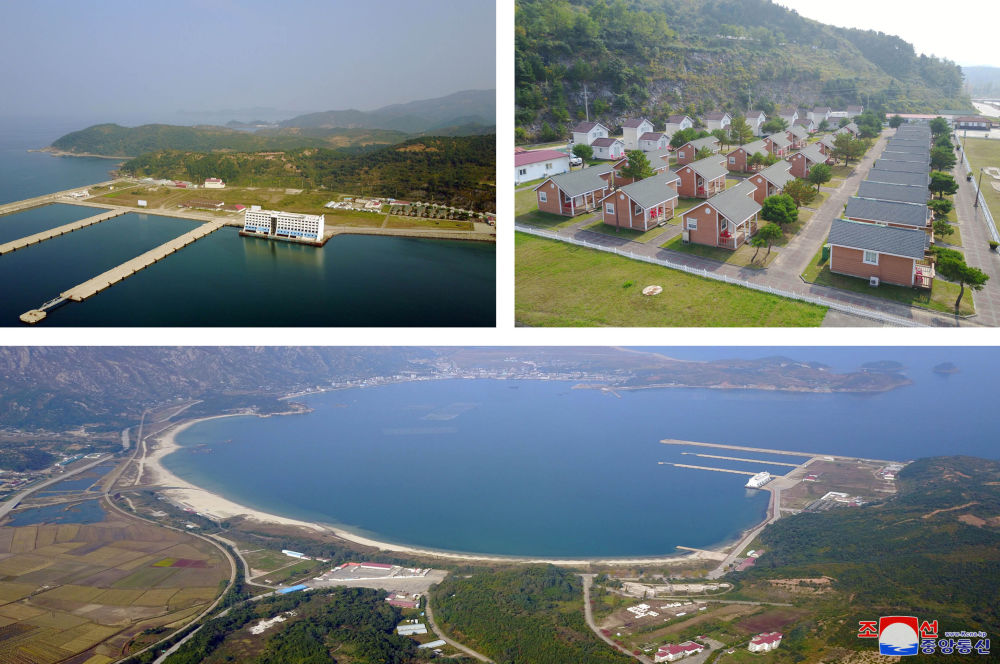 No solo pruebas de misiles: Kim Jong-un visita un balneario en construcción