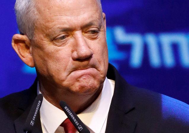 Benny Gantz, líder de la coalición centrista israelí Azul y Blanco