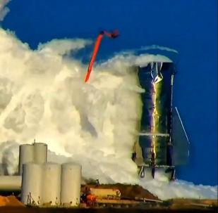 El primer prototipo de la nave Starship tras su explosión