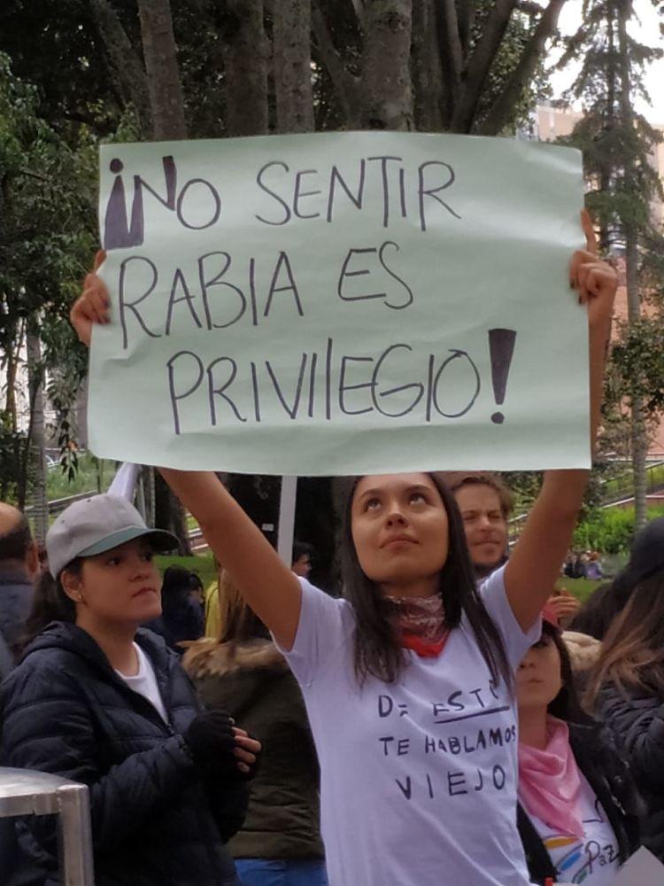 Manifestantes contra el Gobierno de Iván Duque en Colombia