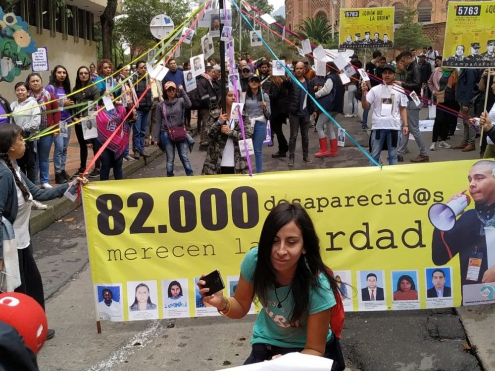 Marcha del 21N en Bogotá