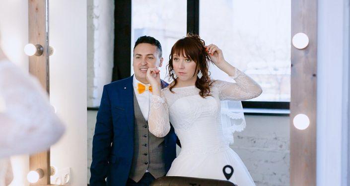 Nelson Rodríguez con su esposa