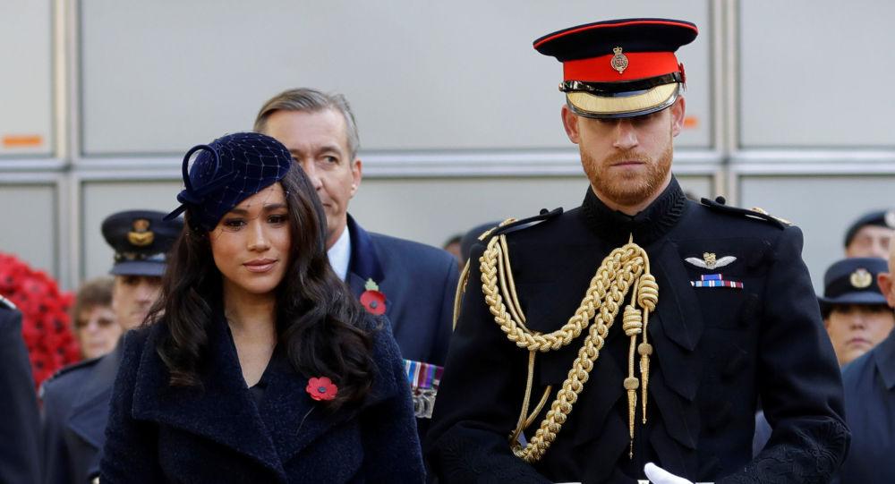 Meghan Markle y su esposo, el príncipe Enrique