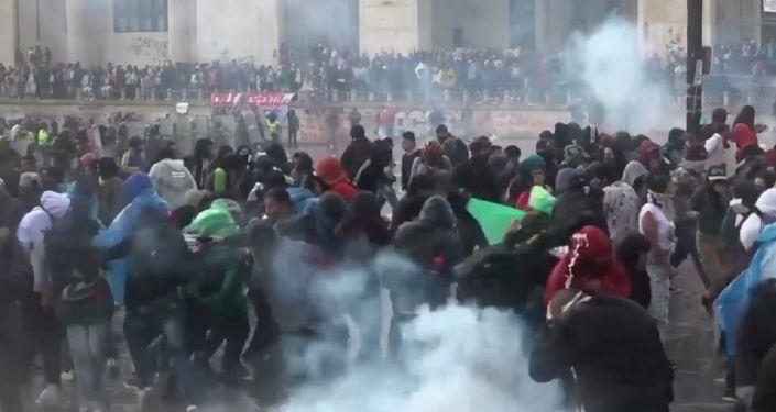 Las protestas en Bogotá se vuelven violentas