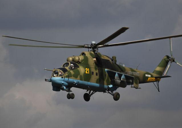 El Mi-24, bautizado como Krokodil (Cocodrilo, en ruso), sigue en servicio de las FFAA de Rusia