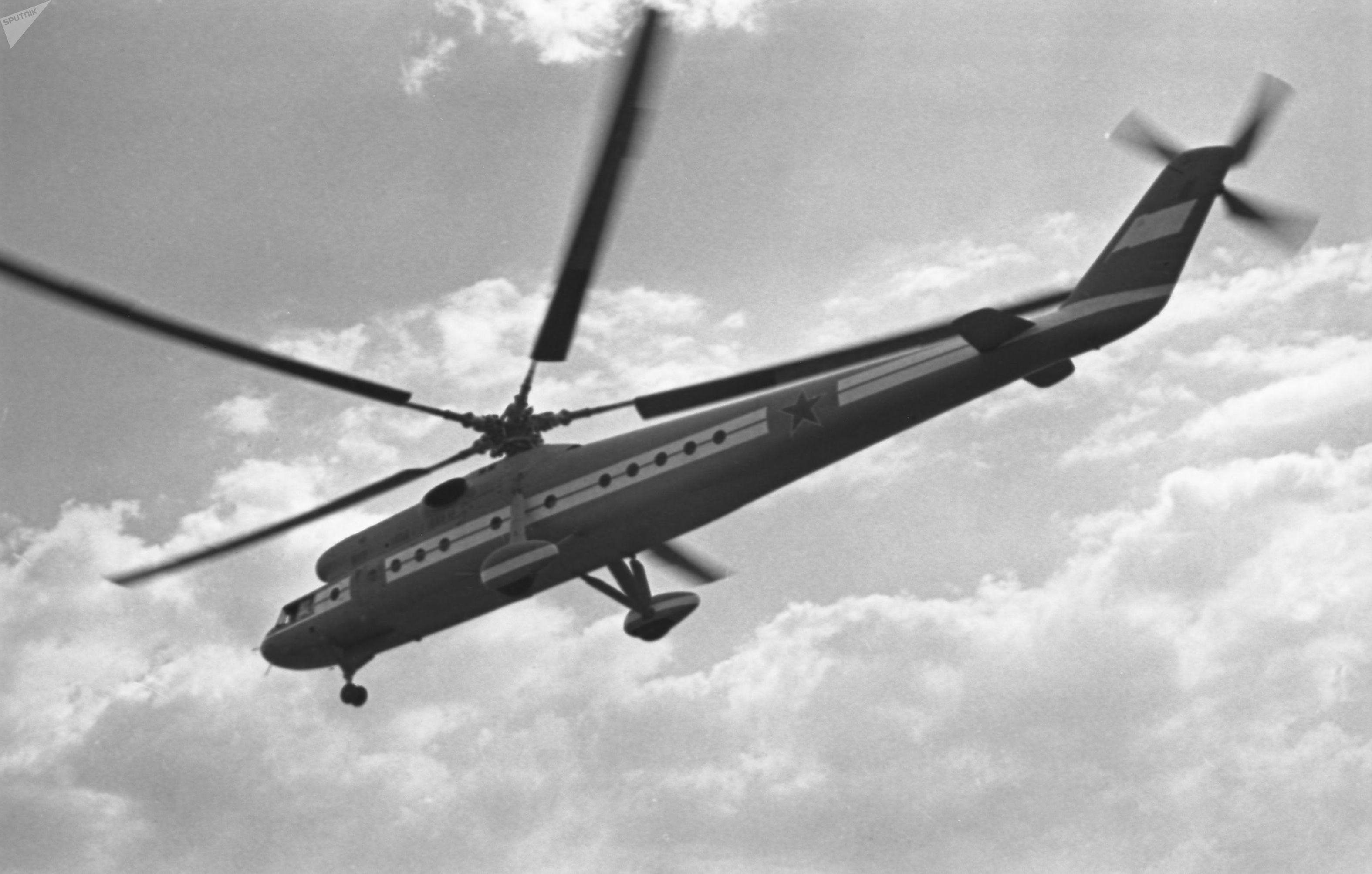El Mi-10 recibió el apodo de 'grúa aérea'