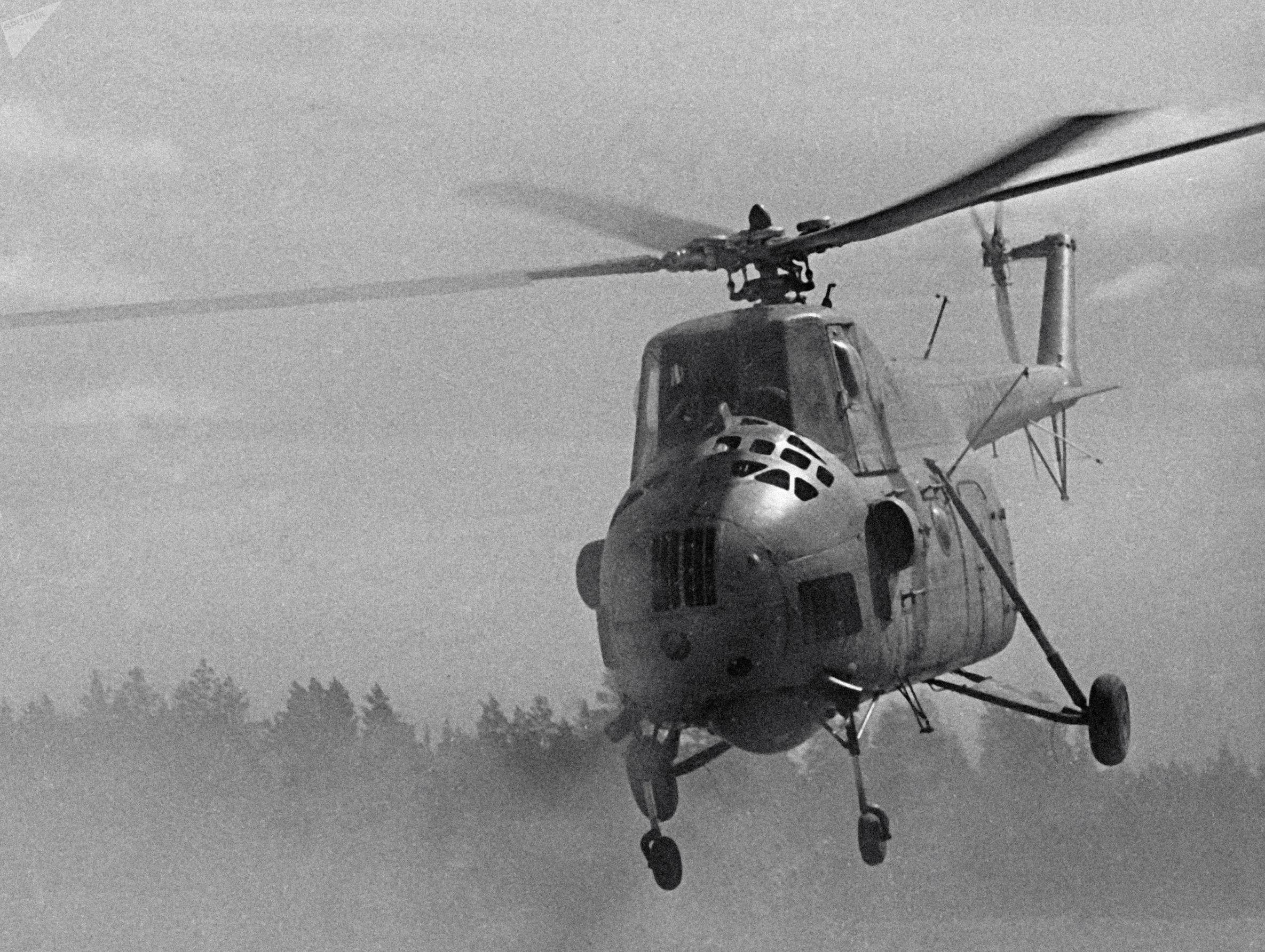 El Mi-4 fue el primer helicóptero de transporte militar de las Fuerzas Armadas de la URSS.