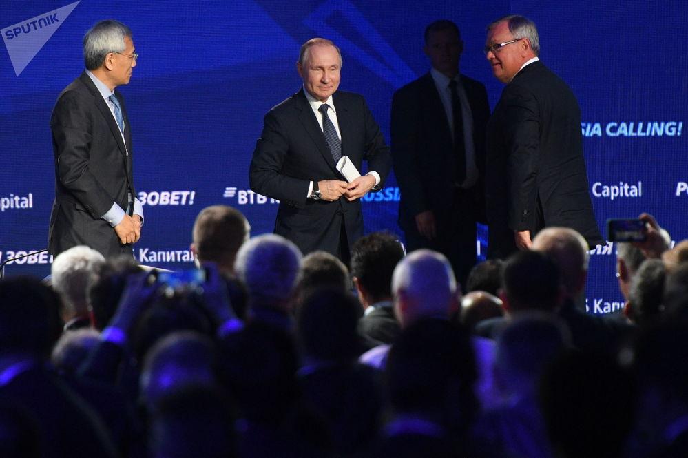 El presidente de Rusia, Vladímir Putin, en el foro anual de inversiones de VTB Kapital.