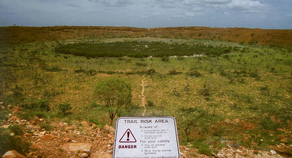 El cráter de Wolfe Creek en Australia