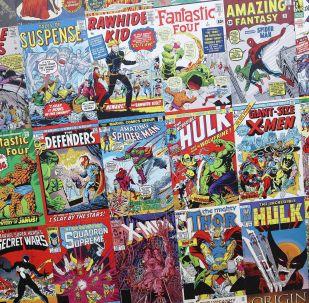 Cómics de Marvel, foto de archivo