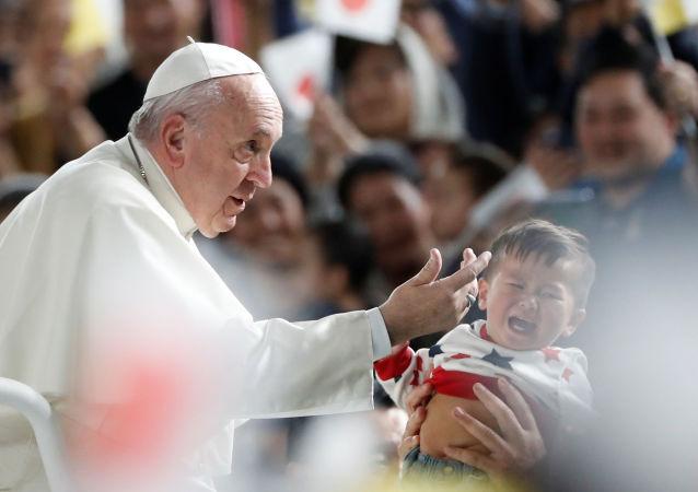 El papa Francisco de visita en Japón
