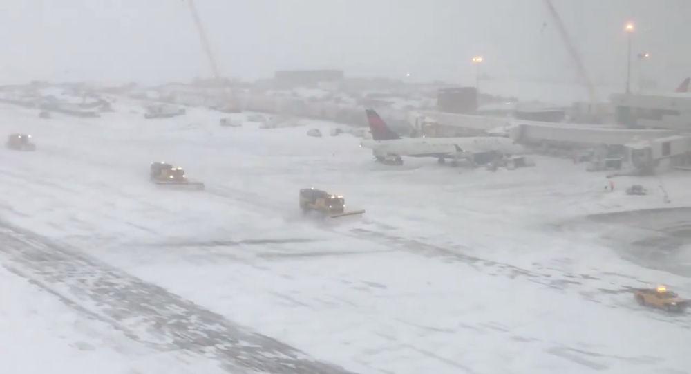 Fuerte nevada en Denver, EEUU
