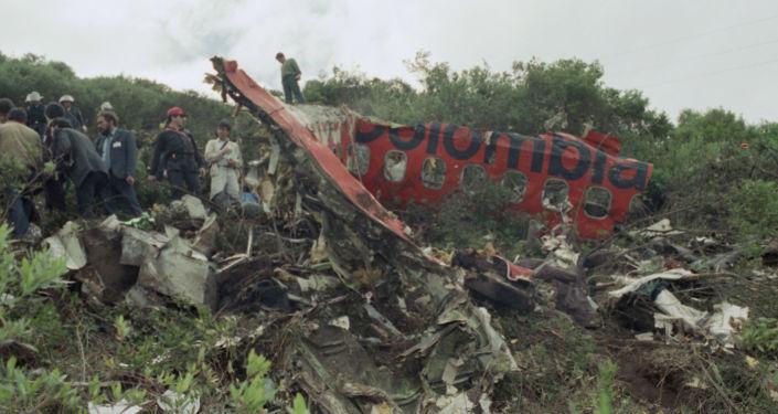 Los escombros del avión de Avianca, a las afueras de Bogotá