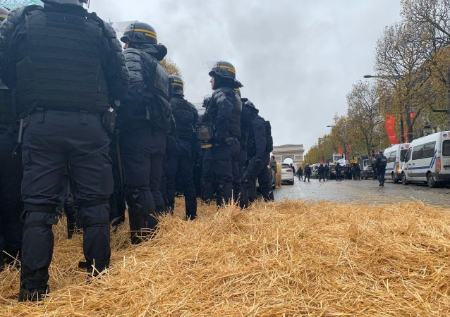 Protesta de agricultores en París