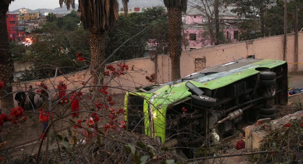Autobús siniestrado en Perú (archivo)