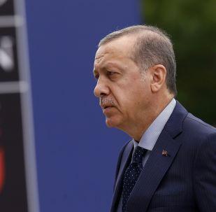 Tayyip Erdogan, presidente turco, en la cumbre de la OTAN en Varsovia