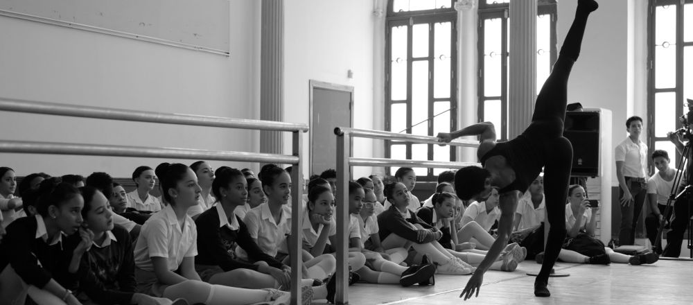 Una instantánea registrada por Darian Vólkova en la Escuela Nacional de Ballet de Cuba