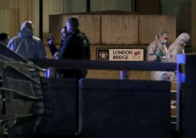 El lugar del ataque terrorista en el Puente de Londres