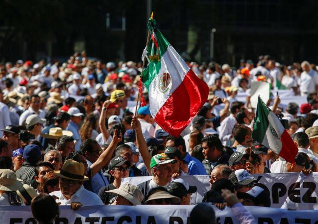 Marcha contra la inseguridad en México