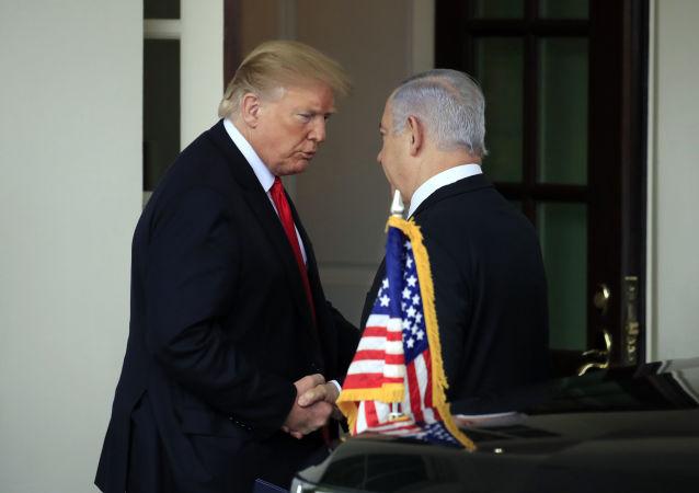 El presidente de Estados Unidos, Donald Trump, y el primer ministro de Israel, Benjamín Netanyahu (archivo)