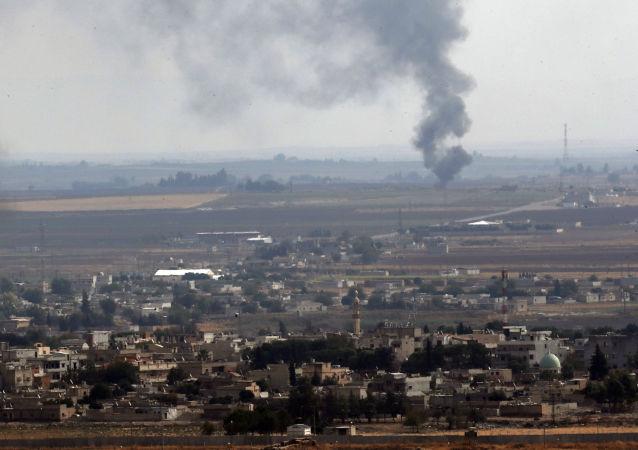 Bombardeo en Siria (imagen referencial)