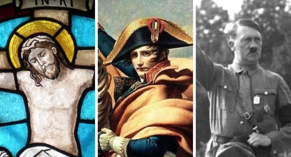 Jesús de Nazaret, Napoleón Bonaparte y Adolf Hitler