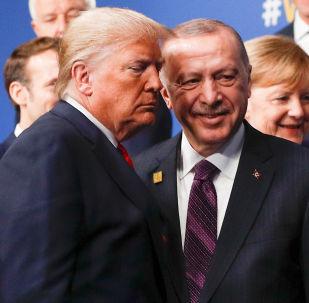 El presidente turco, Recep Tayyip Erdogan, y su homólogo estadounidense, Donald Trump