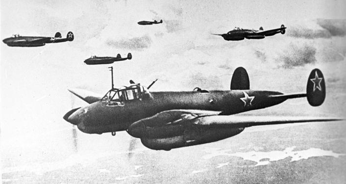 Bombardero soviético Pe-2