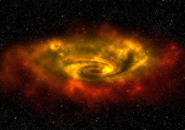 Una galaxia, imagen referencial