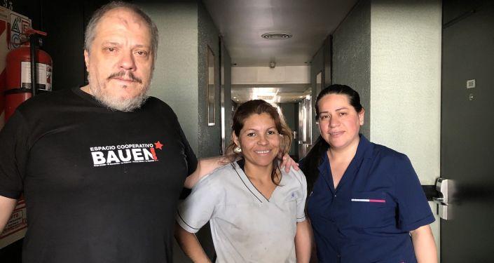 Trabajadores del Hotel Bauen