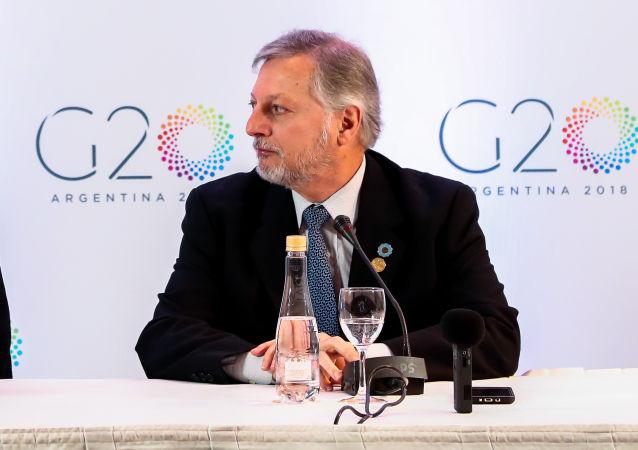 El exministro argentino de Energía y Minería, Juan José Aranguren