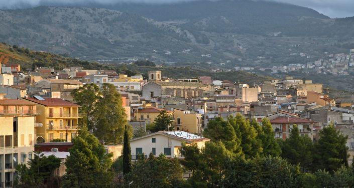 Ciudad de Bivona, Italia - Panorámica