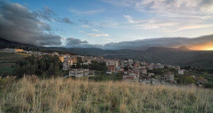 Panorámica de Bivona, en Sicilia