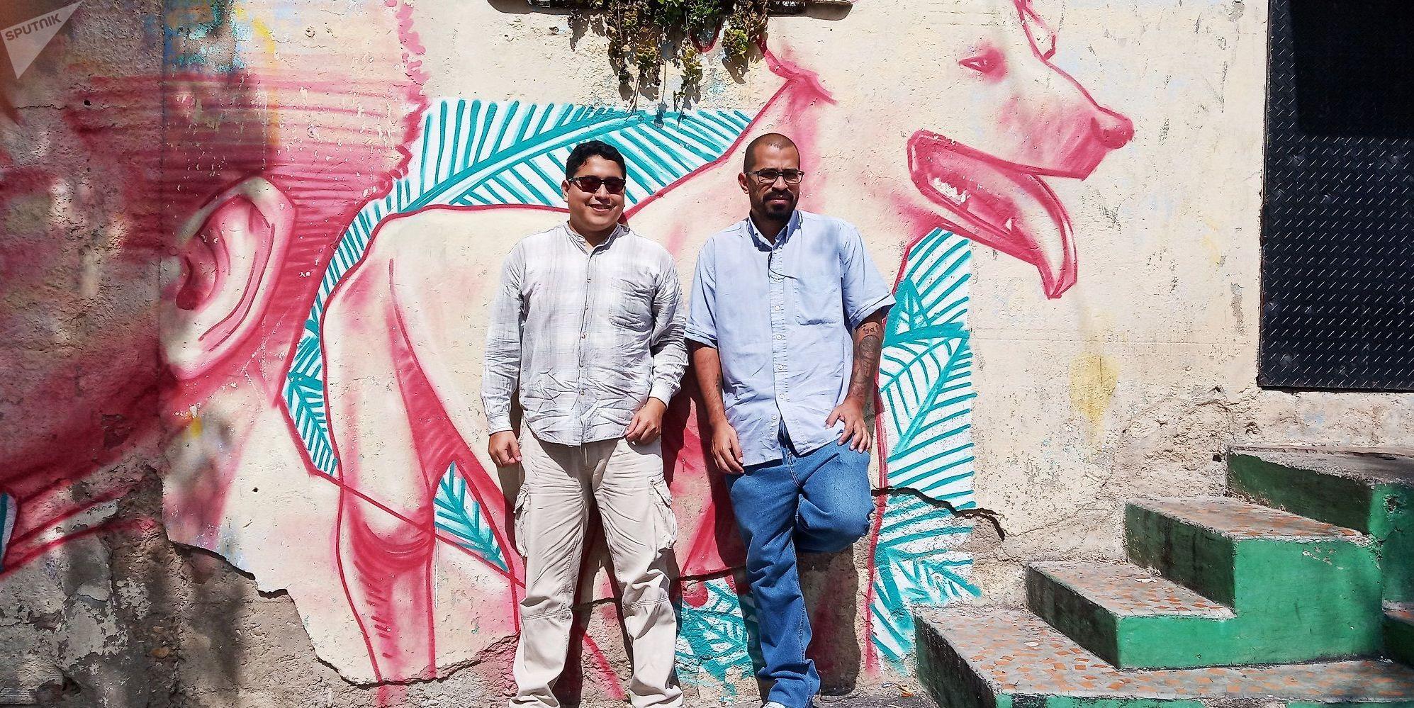 Víctor Hugo Rivera y Jesús Reyes, realizadores del documental 'Tiempos de lucha, acciones de una comuna'