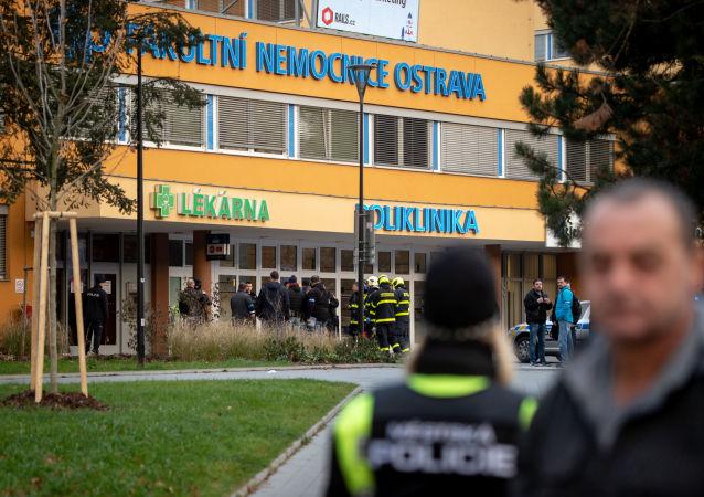 Hospital de Ostrava, Chequia, donde se produjo el tiroteo