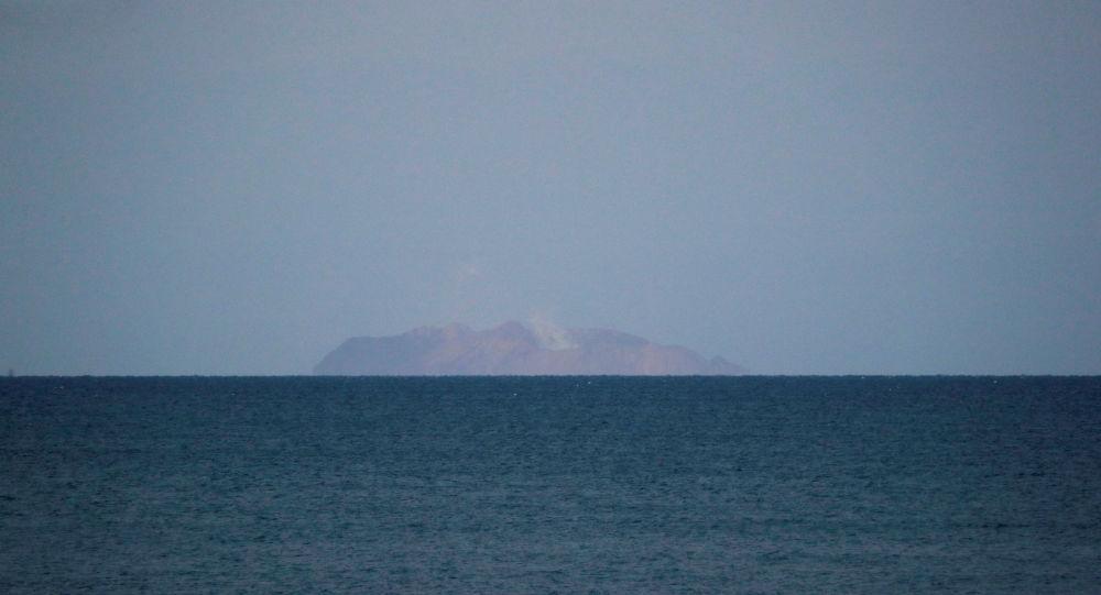 El volcán del islote de White (Whakaari)